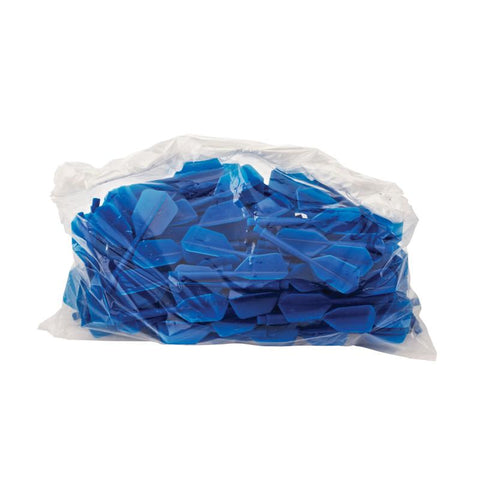 Image of Commercial Replacement Bar Flights - Bag of 100 Blue Dart Flights Viper