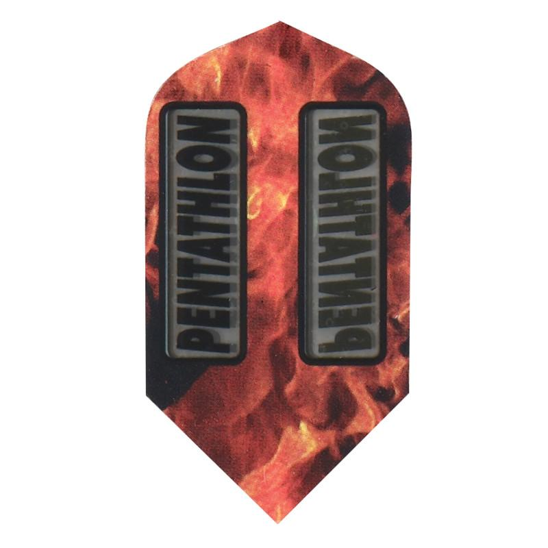 Pentathlon Flights - Slim Orange/Black