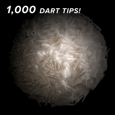 Viper Tufflex Tips III 2BA White 1000ct Soft  Dart Tips