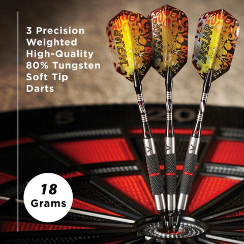 Viper Jaguar Darts Tungsten Soft Tip Darts Silver Barrel 18 Grams