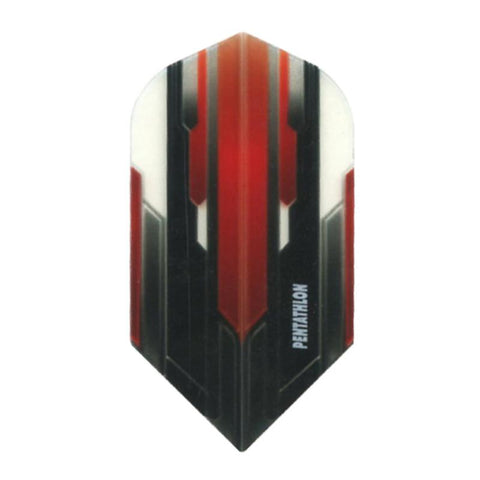 Pentathlon Slim Translucent Design White/Red/Black Flights Dart Flights Viper