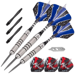 Viper Cold Steel Tungsten Darts Steel Tip Darts 24 Grams and Casemaster Salvo Black Nylon Case Steel-Tip Darts Viper