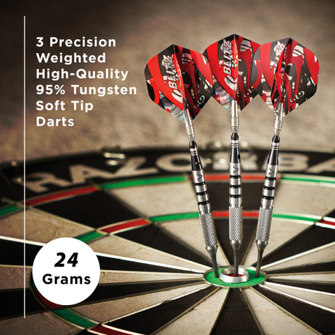 Viper Blitz Darts 95% Tungsten Steel Tip Darts 24 Grams