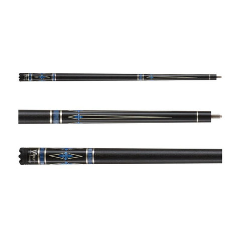 Viper Sinister Series Cue with Black Faux Leather Wrap Billiard Cue Viper