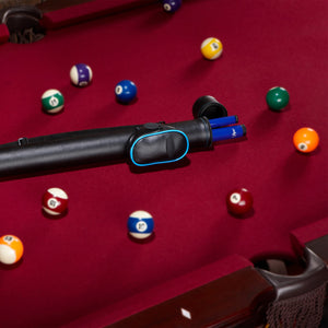 Casemaster Q-Vault Supreme Black with Blue Trim Cue Case Billiard Cue Case Casemaster