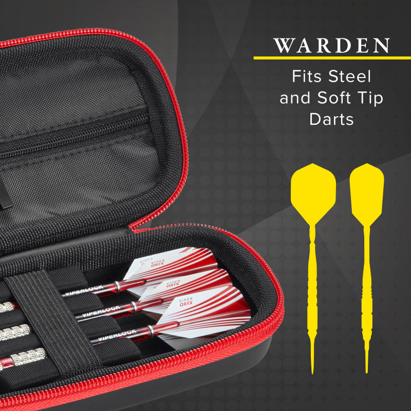 Casemaster Warden Dart Case with Red Zipper