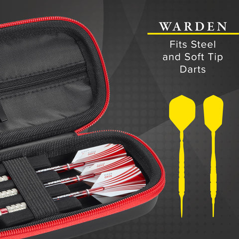 Image of Casemaster Warden Dart Case with Red Zipper