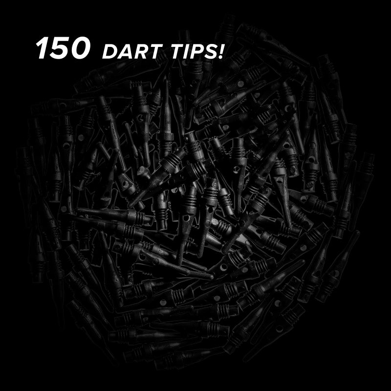 Viper Tufflex Tips SS 2BA Black 150Ct Soft Dart Tips Dart Tips Viper