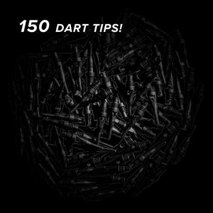 Viper Tufflex Tips SS 2BA Black 150Ct Soft Dart Tips