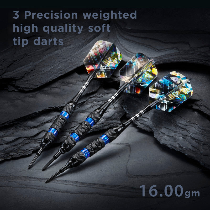 Viper Black Ice Blue Soft Tip Darts 16 Grams