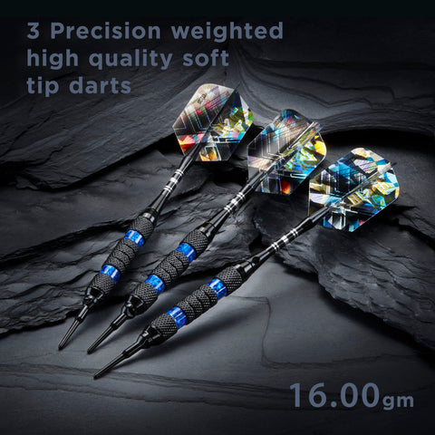 Image of Viper Black Ice Blue Soft Tip Darts 16 Grams