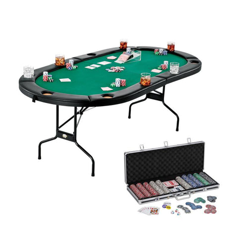 Image of Fat Cat Texas Hold'em Table & Bling Chip Set Casino Bundles Fat Cat