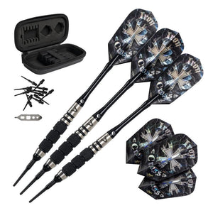 Viper Desperado 80% Tungsten Iron Cross Soft Tip Darts 3 Knurled Rings 18 Grams Soft-Tip Darts Viper