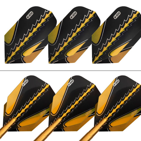 Viper Black Flux 90% Tungsten Steel or Soft Tip Conversion Darts Gold 20 Grams