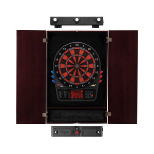 Viper 800 Electronic Dartboard, Metropolitan Mahogany Cabinet, Laser Throw Line & Shadow Buster Dartboard Light Bundle