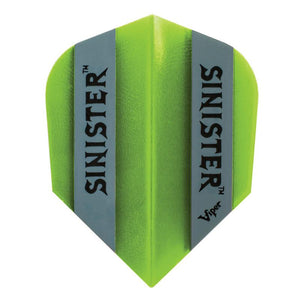 Sinister 100 Flights Standard Translucent Green Dart Flights Viper