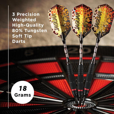 Image of Viper Jaguar Darts 80% Tungsten Soft Tip Darts 2 Knurled Rings 18 Grams Soft-Tip Darts Viper