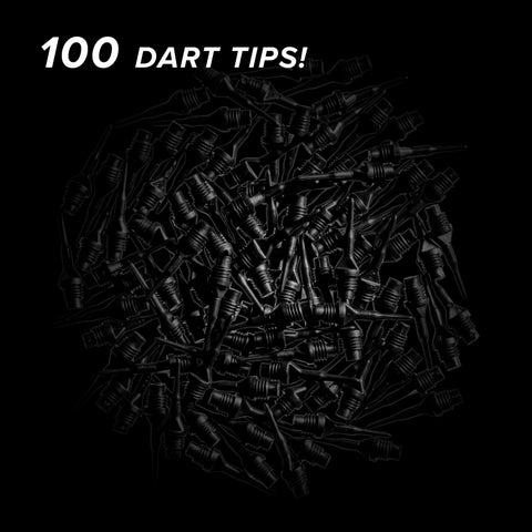 "Image of Viper Tufflex Tips II 1/4"" Black 100Ct Soft Dart Tips"