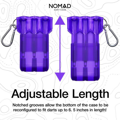 Image of Casemaster Nomad Adjustable Dart Case Purple Dart Cases Casemaster