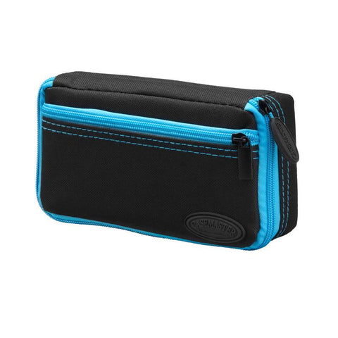 Casemaster Plazma Dart Case Black with Blue Zipper