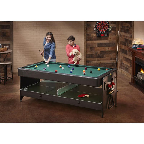 Image of Fat Cat Original 3-in-1 Green 7' Pockey™ Multi-Game Table