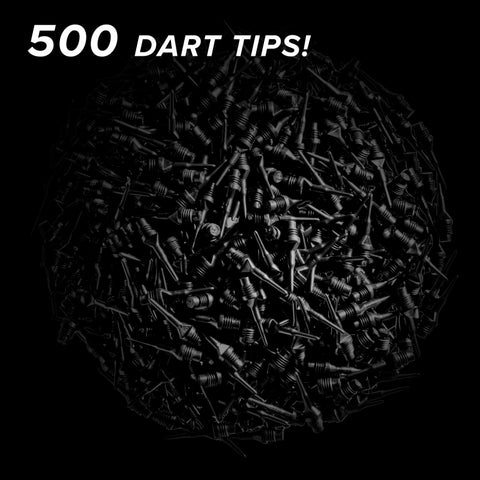 "Image of Viper Tufflex Tips II 1/4"" Black 500Ct Soft Dart Tips"