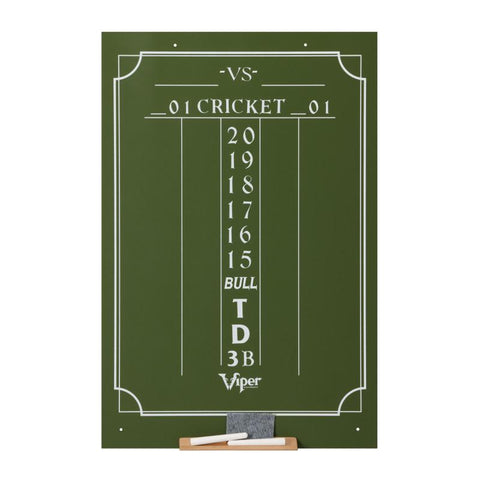 Viper Large Cricket Chalk Scoreboard Dartboard Accessories Viper