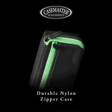 Casemaster Plazma Dart Case Black with Green Zipper