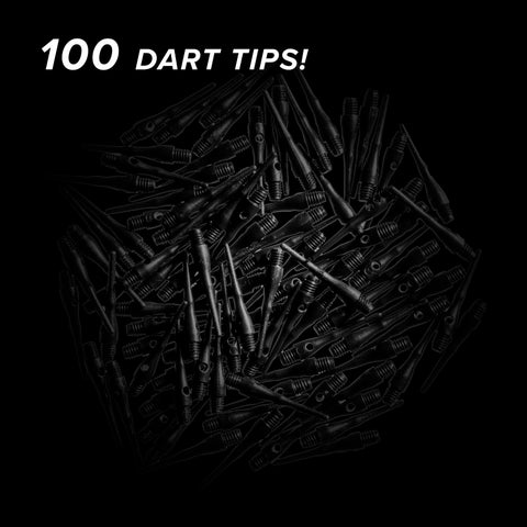 Viper Tufflex Tips III 2BA Black 100Ct Soft Dart Tips Dart Tips Viper