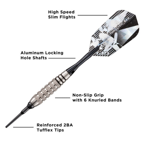 Viper Bee 80% Tungsten Soft Tip Darts Knurled Barrel 18 Grams