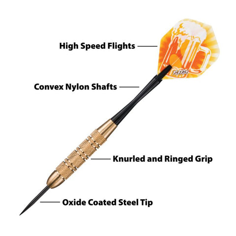 Fat Cat Beer Darts Steel Tip Darts 17 Grams Steel-Tip Darts Fat Cat