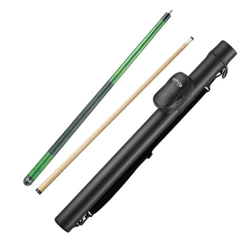 Viper Elite Series Green Wrapped Cue and Casemaster Q-Vault Supreme Black Cue Case