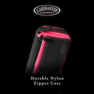 Casemaster Plazma Plus Dart Case Black with Pink Trim and Phone Pocket Dart Cases Casemaster