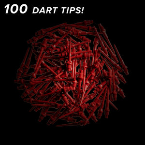 Viper Tufflex Tips II 2BA Red 100Ct Soft Dart Tips