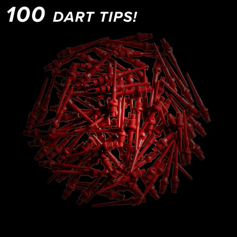 Viper Tufflex Tips II 2BA Red 100Ct Soft Dart Tips Dart Tips Viper