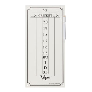 Viper Small Cricket Dry Erase Scoreboard Dartboard Accessories Viper