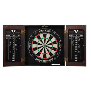 Viper Stadium Cabinet with Shot King Sisal Dartboard & Shadow Buster Dartboard Lights Darts Viper