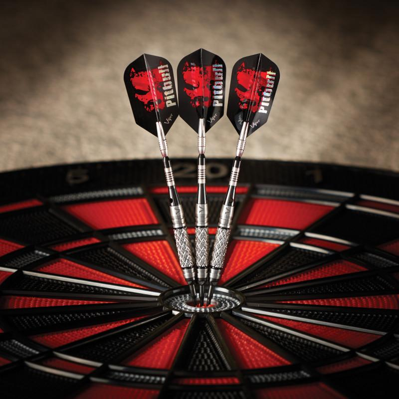 Viper Pitbull Tungsten Soft Tip Darts Diamond Cut and Shark Fin Barrel 18 Grams