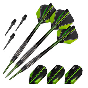 Viper Black Flux 90% Tungsten Steel or Soft Tip Conversion Darts Green 20 Grams