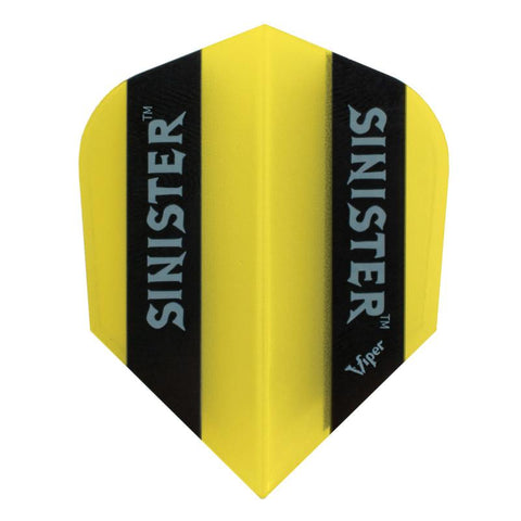V-100 Sinister Flights Standard Translucent Yellow Dart Flights Viper
