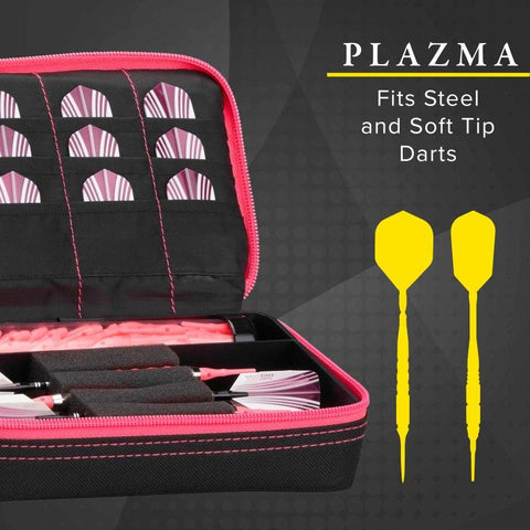 Image of Casemaster Plazma Dart Case Black with Pink Zipper