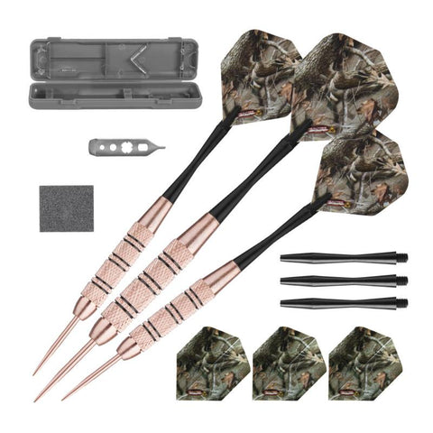 Image of Fat Cat Realtree Hardwoods HD Steel Tip Darts 23gm and Casemaster Realtree Hardwoods Deluxe Camouflage Case Steel-Tip Darts Fat Cat