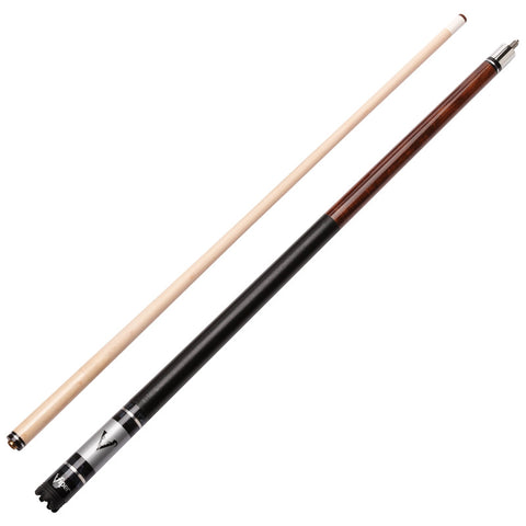 Image of Viper Sinister Series Cue with Brown Stain and Casemaster Q-Vault Supreme Black Cue Case