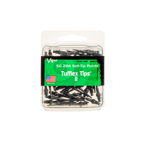 Viper Tufflex Tips II 2BA Black 50Ct Soft Dart Tips Dart Tips Viper