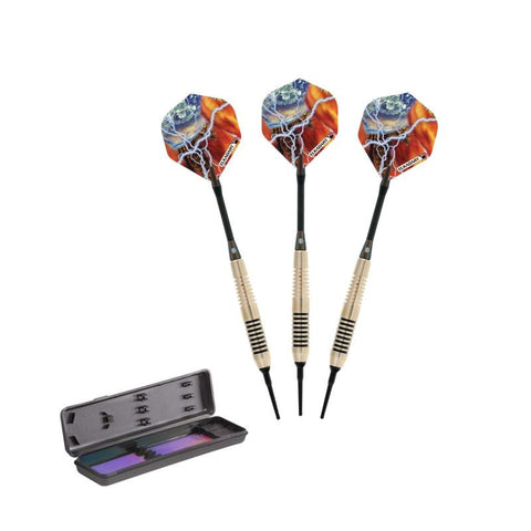 Image of Elkadart Storm Soft Tip Darts Red Rings 17 Grams