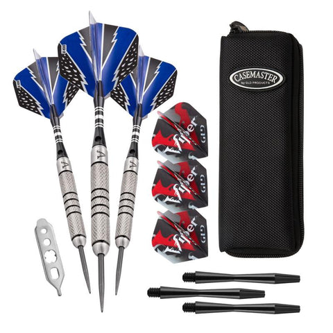 Image of Viper Cold Steel Tungsten Darts Steel Tip Darts 24 Grams and Casemaster Salvo Black Nylon Case