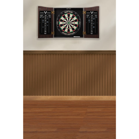 Image of Viper Vault Dartboard Cabinet with Shot King Sisal Dartboard