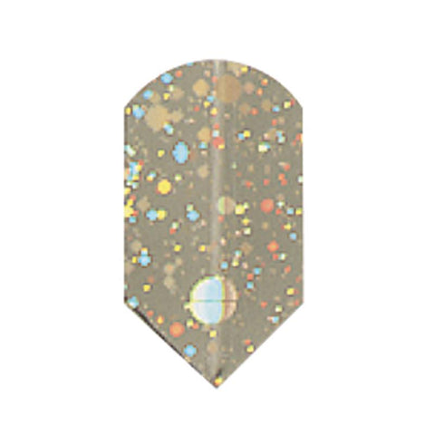 2-D Glitter Flights Micro Gold