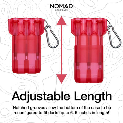 Image of Casemaster Nomad Adjustable Dart Case Red Dart Cases Casemaster