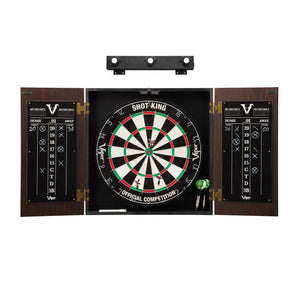 Viper Stadium Cabinet with Shot King Sisal Dartboard & Shadow Buster Dartboard Lights